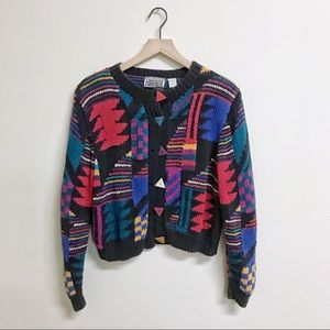 Vintage Forenza Color Pop 80s 90s Sweater Small